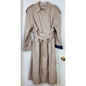 Forrani beige trench button raincoat with belt